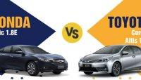 750 triệu đồng chọn sedan Nhật: Honda Civic 1.8E 2018 hay Toyota Corolla Altis 1.8G 2018?