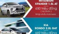 Xe gia đình 700 triệu, mua Mitsubishi Xpander hay Kia Rondo?