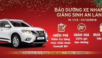 """Nissan Việt Nam tri ân khách hàng với dịch vụ """"Bảo dưỡng xe nhanh – Giáng sinh an lành"""""""