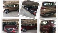 Hyundai Santa Fe 2019 đã được đưa về đầy bãi, chờ giờ giao cho khách