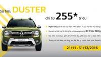 Mua Renault Duster với giá chỉ từ 255 triệu đồng