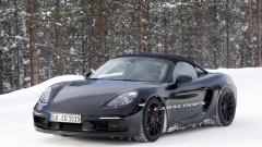 Porsche Boxster Spyder 2019 thử nghiệm trong điều kiện lạnh giá